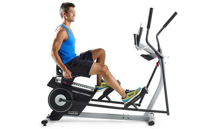Proform Hybrid Trainer 2 In 1 Elliptical And Rebent Bike