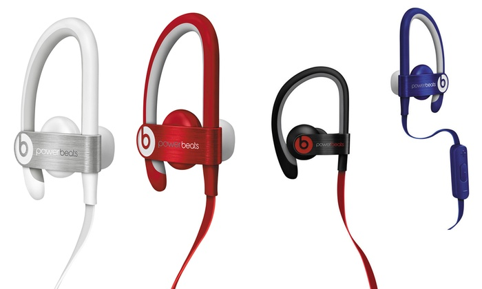 0fb85bcd65c Beats by Dr. Dre Powerbeats2 Wired Earbuds (Refurbished) | Groupon