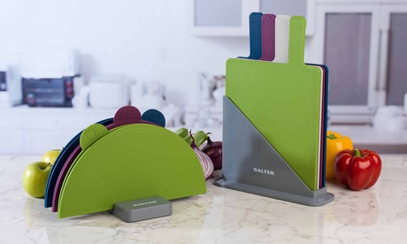 Salter Three- or Four-Piece Colour-Coded Chopping Board Set