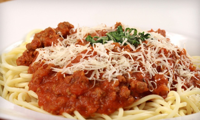 East Side Pizza - Las Vegas: Two Pasta Entrees with Optional Pizza at East Side Pizza (Up to 55% Off)