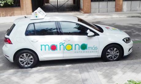 Curso para obtener el carné de conducir B con 5 o 10 prácticas desde 9,95 € en Autoescuela Mañana Más
