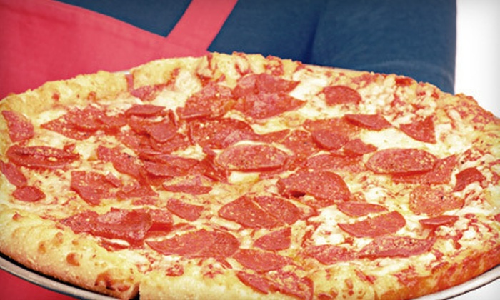 Yaki's Pizza & Subs - Summerland: $16 for Family Dinner with Two Specialty Pizzas and Two-Litre Pop from Yaki's Pizza & Subs in Summerland ($32.18 Value)