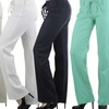 Women's Classic Mid-Rise Drawstring Linen Pants