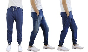 Men's Soft-Touch French Terry Joggers with Zipper Pockets