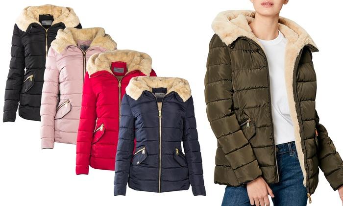 Bis zu 56% Rabatt Damen-Winterjacke in Stepp-Optik   Groupon 6c7e129aba