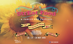 Streat Pr Ltd: StrEat Food & Family Fun Festival, 26–28 May at Great Yorkshire Showground (Up to 46% Off)