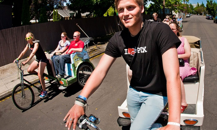 PDX Pedicab - Buckman: $25 for a 2.5-Hour East-Side Pedicab Brewery Experience for Two from PDX Pedicab ($50 Value)