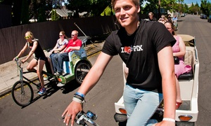 PDX Pedicab: $25 for a 2.5-Hour East-Side Pedicab Brewery Experience for Two from PDX Pedicab ($50 Value)