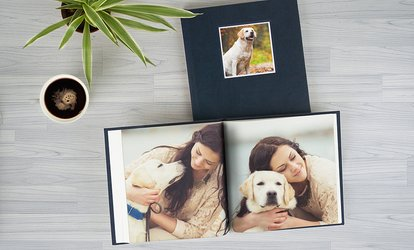 Personalised Small, Medium or Large Debossed Hardcover Photobook with 40 Pages from Photobook Emirates