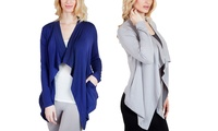 GROUPON: Agiato Women's Fleece Jacket Cardigan Agiato Women's Fleece Jacket Cardigan