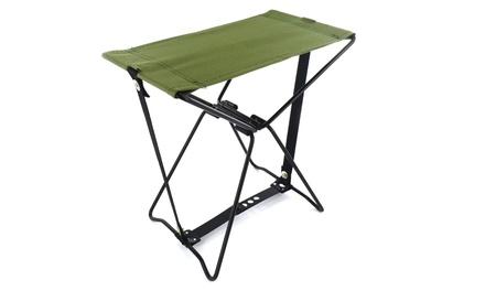 Sedia da campeggio a tasca con sacca inclusa con chiusura pieghevole