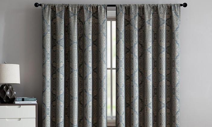 Up To 72 Off On Jacquard Single Curtain Panel Groupon Goods,Kitchenaid Dishwasher Inside