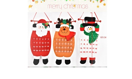 for One, Two or Four Santa Claus Christmas Advent Calendars