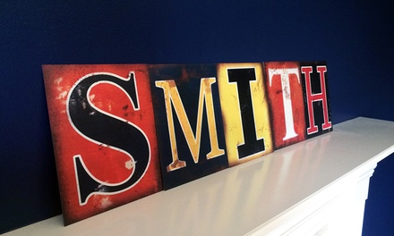 """8"""" x 10"""" Custom Industrial Colorful Metal Alphabet Lettersfrom LilyDeal (Up to 60% Off)"""