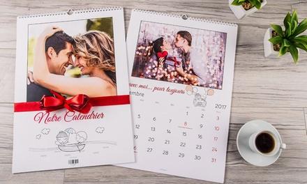 1, 3 ou 5 calendriers photo personnalisés, format A4 ou A3 avec Colorland dès 1,99 € (jusquà 90% de réduction)