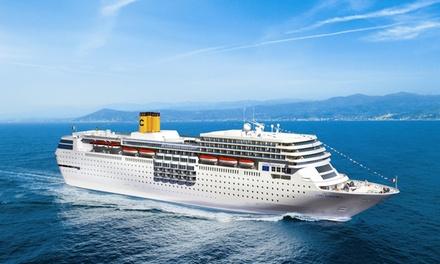 Crucero por el mediterráneo para 1 con pensión completa en el buque Costa Favolosa en doble exterior vista mar