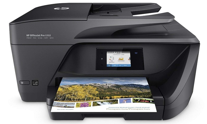 HP OfficeJet Pro 6968 All-in-One Wireless Printer with Mobile Printing (New)