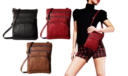 One, Two or Three Multi-Pocket Cross-Body Handbags