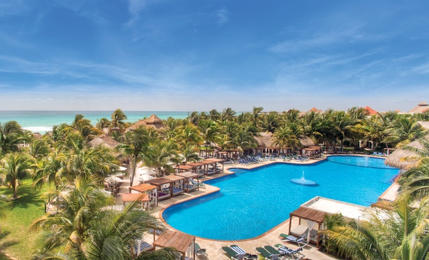 TripAlertz wants you to check out ✈ 5-Night Gourmet-Inclusive El Dorado Royale Stay w/Air. Price/Person Based on Double Occupancy (Buy 1 Groupon/Person). ✈ Gourmet-Inclusive Mexico Vacation with Airfare from Travel by Jen - Mexico Vacation with Airfare