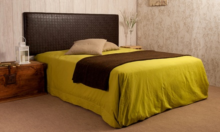 Cabecero Luxury Eco polipiel trenzado de cuero o de márfilpara camas desde 59,99€