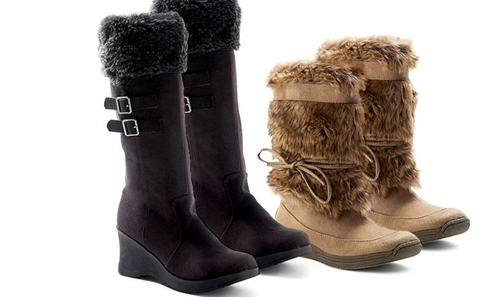 Unionbay Tower-O Fleece Collar or Fluff Boot: $29.99 for One Pair of Unionbay Boots ($79.99 List Price). Multiple Options. Free Shipping and Returns.