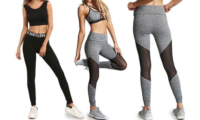 legging fitness sport femme groupon shopping. Black Bedroom Furniture Sets. Home Design Ideas