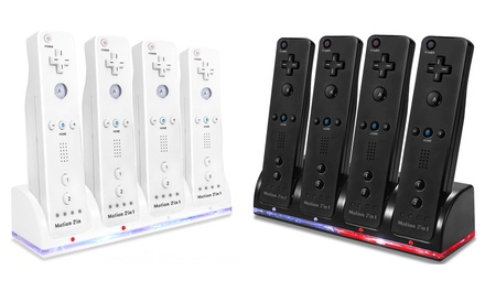 Quad Charging Station for Wii Remotes with 2800mAh Battery Packs