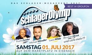 Freizeit- und Erholungspark Lübars: 1, 2, 4 oder 6 Tickets für den SchlagerOlymp am 01.07.2017 auf dem Marktplatz in Eisenach (bis zu 50% sparen)
