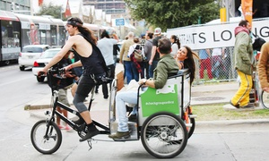 Metrocycle Pedicabs: 2.5-Hour Guided Pedicab Tour of Downtown or Breweries for Two or Three from Metrocycle Pedicabs (Up to 33% Off)