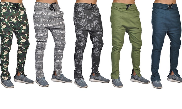 Dirty Robbers Fashion Joggers with Zipper Bottom