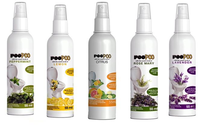 One or Three PooPoo Toilet Sprays (55ml each) for £3.98