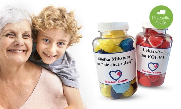 MAKE BUSINESS MARCIN BRZOZOWIEC: Od 24,99 zł: słoiczek smakołyków Doctor Candy dla Babci lub Dziadka ze spersonalizowaną etykietką, 300 ml