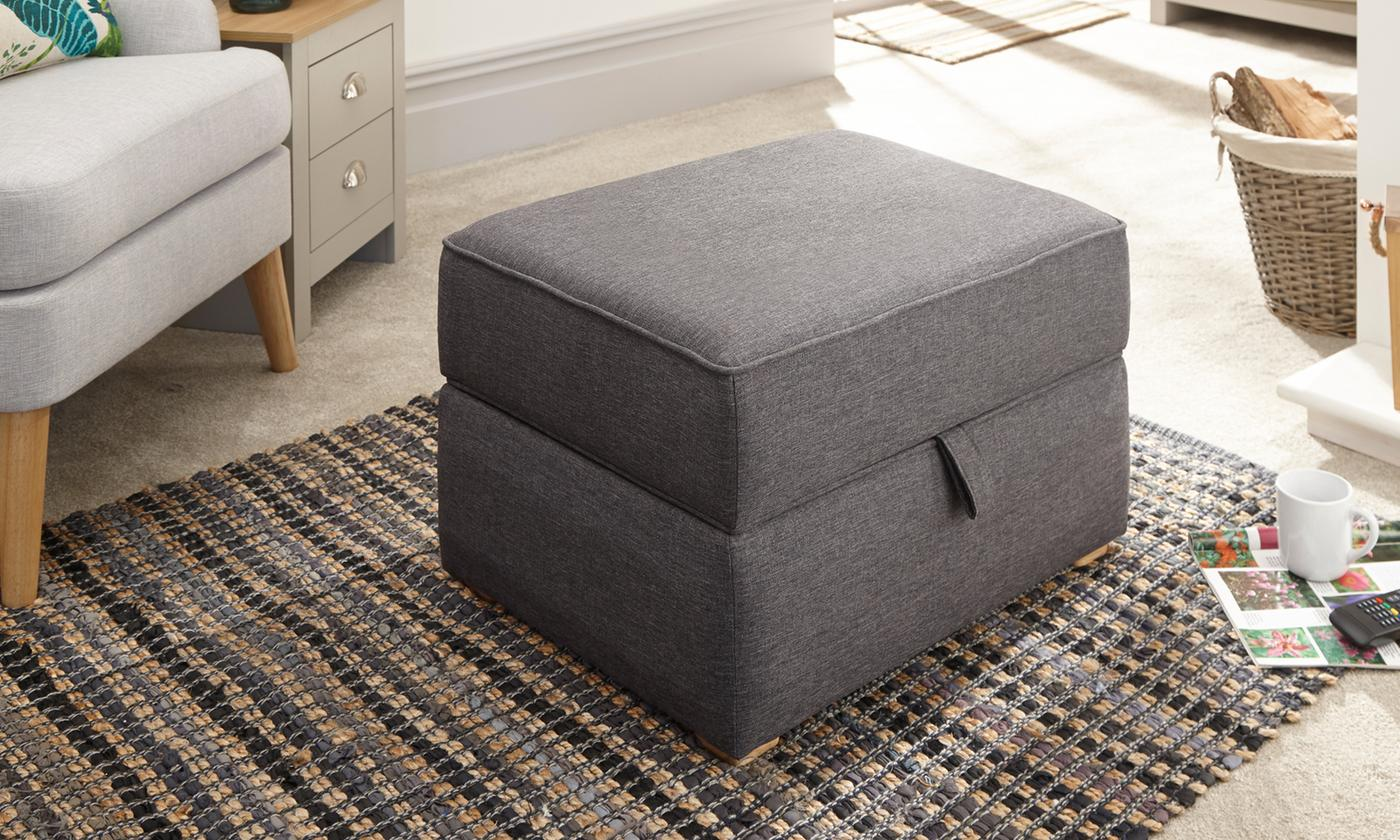 Square Ottoman Storage Footstool