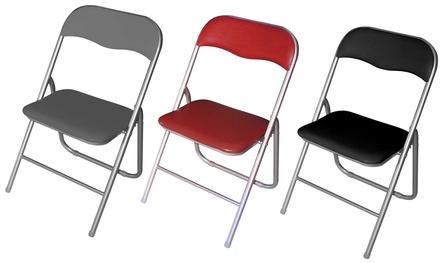 Set di 6 sedie pieghevoli