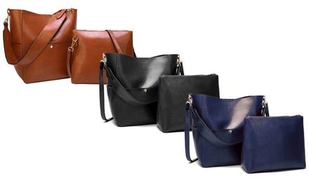 2er-Set Damentasche aus Leder in der Farbe nach Wahl (Sie sparen: 53%)