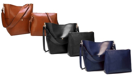 2er-Set Damentasche aus Leder (Statt: 79,00 € Jetzt: 36,90 €)