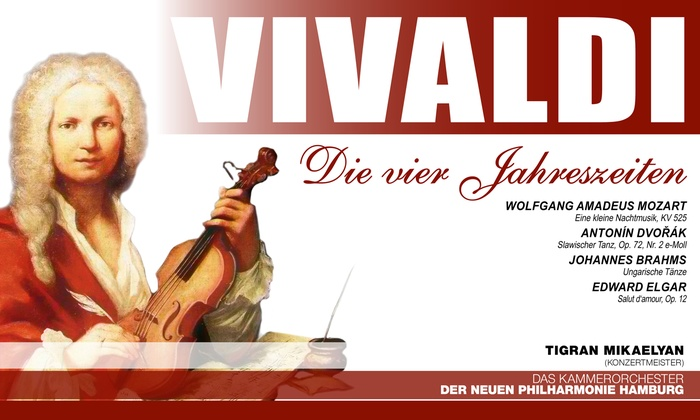 Weltkonzerte - Mehrere Standorte: Klassik-Konzert Vivaldi des Kammerorchesters der Neuen Philharmonie Hamburg im April und Mai (bis zu 43% sparen)