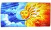 "30""x60"" Sun and Moon Merging Cotton Beach Towel: 30""x60"" Sun and Moon Merging Cotton Beach Towel"