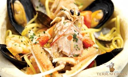 1 kg di paella, 500 g di fritto o grigliata o primo per 2 persone al ristorante Terraferma (sconto fino a 48%)