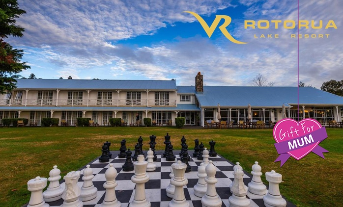Rotorua: 1 to 3 Nights for Up to Four with F&B Voucher, Tennis Sessions and Kayak Hire at VR Rotorua Lake Resort