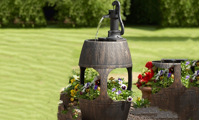 Barrel Fountain and Planter for £40 With Free Delivery