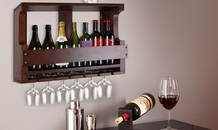 $99 for a Wooden WallMounted Wine Rack
