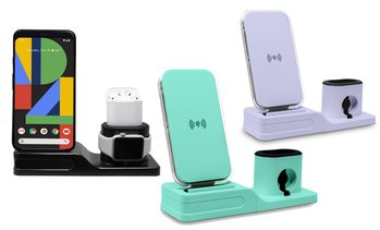 Aduro Qi Wireless Charging Station for iPhone, iWatch, and AirPods
