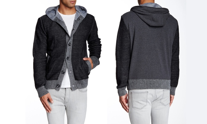 X-Ray Jeans Men's Fleece-Lined Cardigan