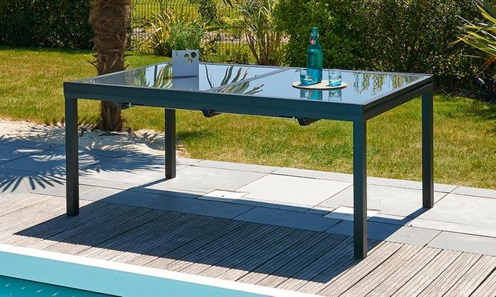 Ensemble jardin Caraïbes alu et verre | Groupon