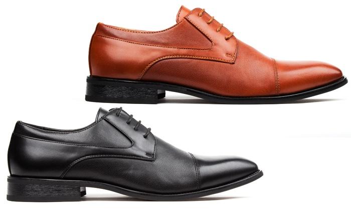 Signature Men's Cap-Toe Dress Shoes