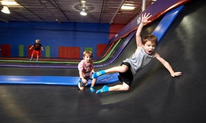 AZ Air Time: Two-Hour Play Sessions at Indoor Trampoline Park with Foam Pit, Rock Wall, and Socks (Up to 56% Off)