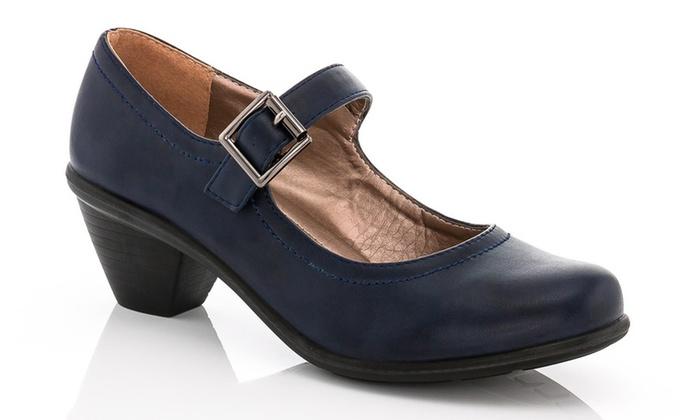 Jana Shoes Mary Jane Brown