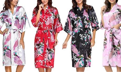 1 o 2 batas estilo kimono para mujer