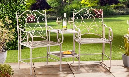 Heart Metal Garden Furniture Set